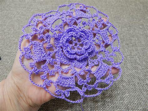 imagenes de flores tejidas a crochet flor tejida con 10 vueltas para vestido blusa mantel