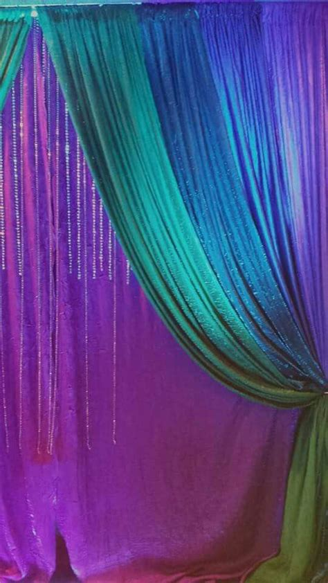 peacock colors curtain backdrop idea for any