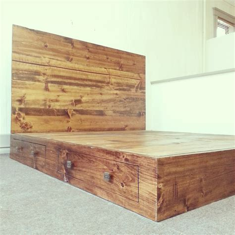 Rustic California King Size Platform Bed Frame With Rustic King Bed Frame