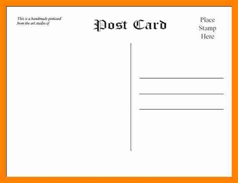 word postcard template doc 631419 free 4x6 postcard template microsoft word