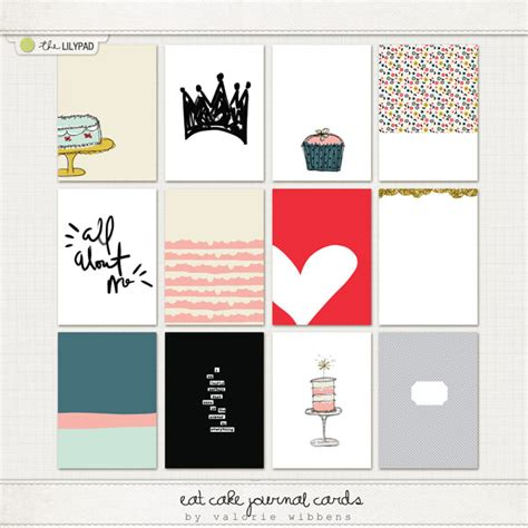 Eat Gift Card - the lilypad journal cards eat cake journal cards