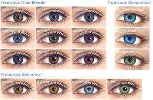 eye contact colors guide to color contact lenses eyedolatry