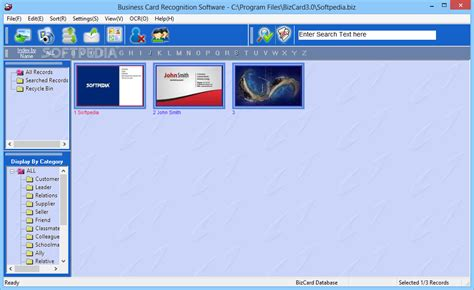 Business Card Program business card recognition software