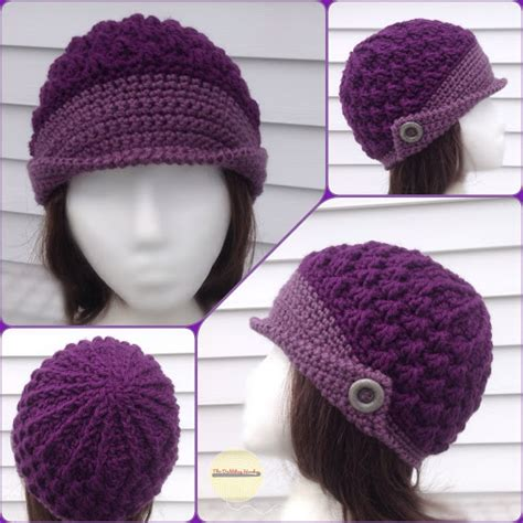 peaked cap knitting pattern how to crochet a hat for beginners