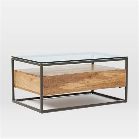 West Elm Box Frame Coffee Table Box Frame Storage Coffee Table West Elm