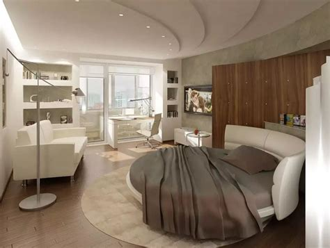 round bedroom circle bed in unique bedroom interior design small