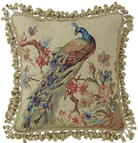 peacock aubusson pillow peacocks