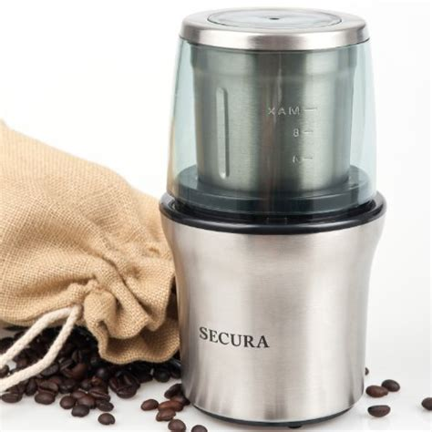 Stainless Steel Electric Coffee Grinder Secura Electric Coffee And Spice Grinder With Stainless