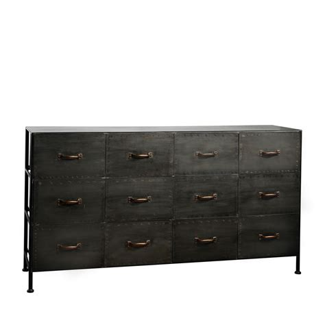 Commode 12 Tiroirs by Commode Industrielle 12 Tiroirs Typographic Pomax Drawer