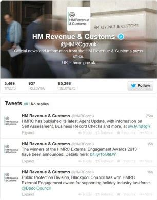 #taxman: hmrc plans to follow you on facebook and twitter
