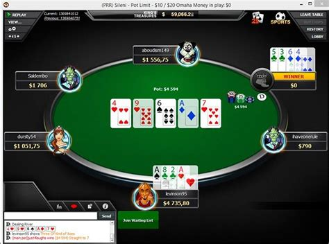 poker rooms  playing omaha plo