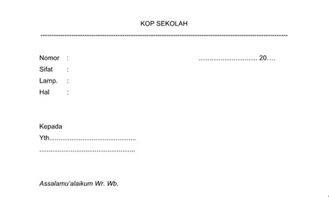surat dinas biasa contoh format bentuk format administrasi tu sekolah