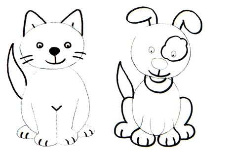 how to draw dogs and puppies learn to draw with step by step drawing with 2 to 4 steps