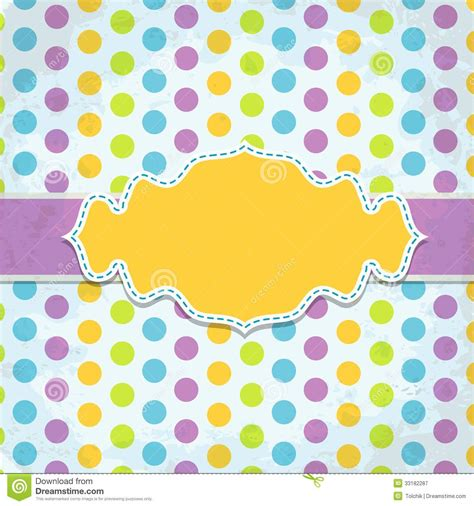 template birthday card illustrator template greeting card vector royalty free stock