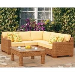 wicker patio sectional miriana wicker sectional by leisure select
