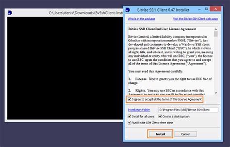 ssh console installing the ssh client bitvise