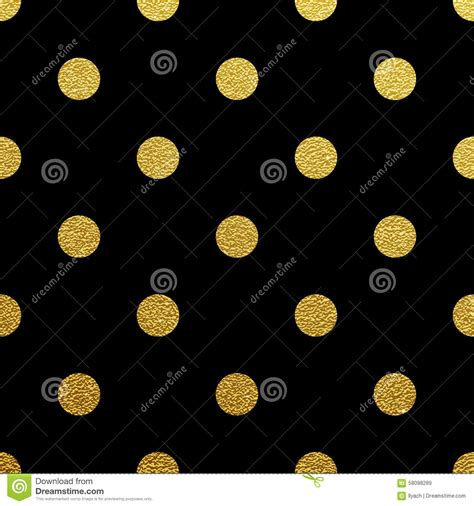 gold pattern on black background gold polka dot seamless pattern on black background stock