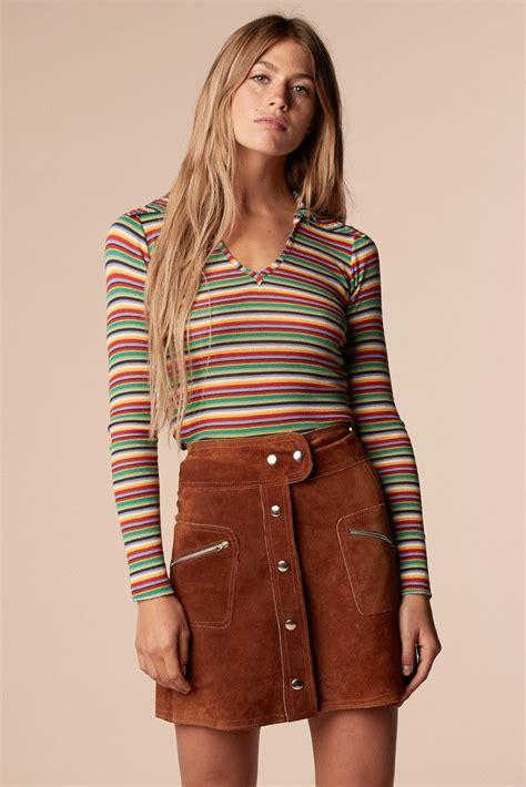 classic inspired fashion this is brady bunch rainbow shirt stoned immaculate vintage