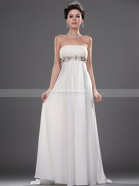 Goddess Style Wedding Dresses by Goddess Style Strapless Flowing Chiffon Bridal Gown