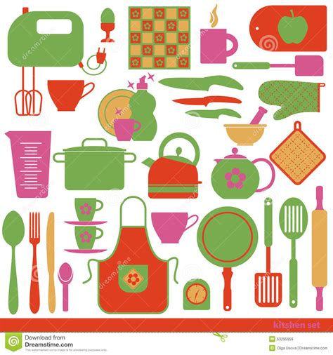 kitchen set picture to color kitchen vector background stock vector image 53295959