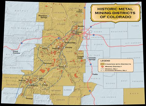 map of colorado gold historic mining districts colorado geological survey