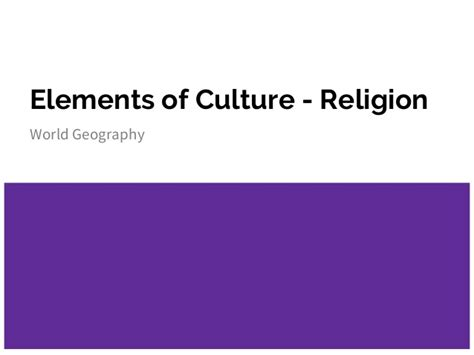 The Elementary Of The Religious elements of culture religion yen