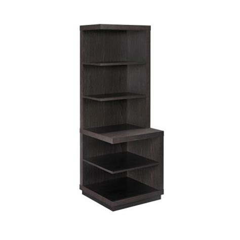espresso corner bookcase living room cabinet furniture