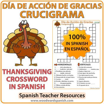 Dia De Accion De Gracias Detox thanksgiving crossword d 237 a de acci 243 n de gracias