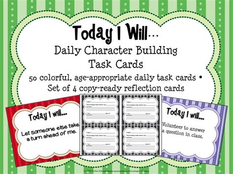 Task Cards Template For Affirmations by The 25 Best Positive Character Traits Ideas On