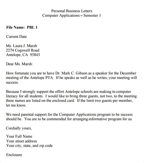 Personal College Letter Of Recommendation Sle Personal Letter Format Sle Best 28 Images Personal Letter Of Recommendation Graduate School