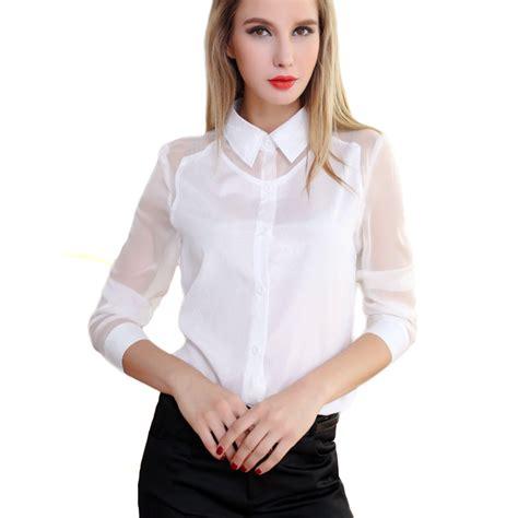 Sleeve See Through Top blouses see thru collar blouses