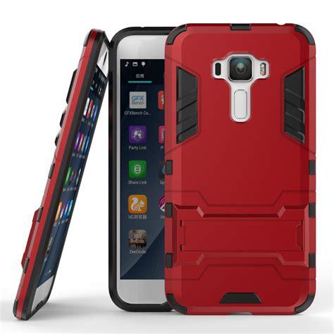for asus zenfone 3 ze552kl slim robot armor phone kickstand shockproof rubber cover