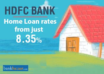 hdfc bank housing loan interest rates hdfc home loan interest rate 8 35 eligibility emi calculator