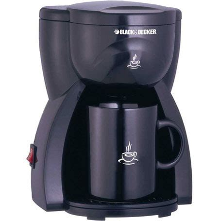 Coffee Maker Black Decker Penyeduh Kopi 1 Cup 330 Watt Dcm25 B1 black and decker dcm15 1 cup coffee maker