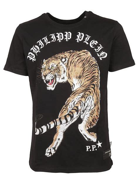 Tiger Print T Shirt philipp plein philipp plein tiger print t shirt black