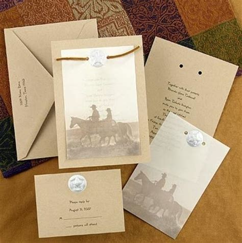 Western Wedding Invitation Paper by Country Western Wedding Invitation Cowboy Wedding Ideas