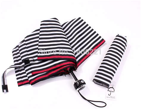 Black And White Striped Patio Umbrella Free Shipping Black And White Striped Umbrella Folding Umbrellas Uv Three Folding Umbrella Uv
