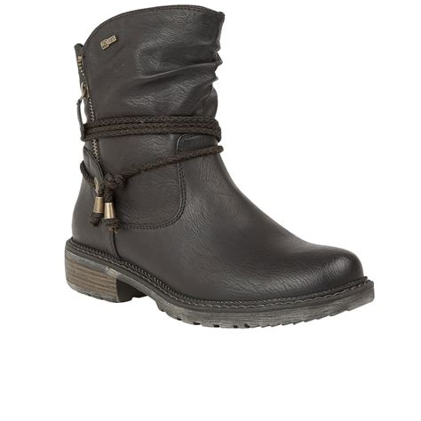 lotus busby womens biker boots from charles
