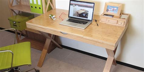 cable tidy home office desk studiodesk bamboo furniture