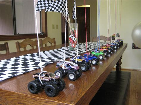 monster jam truck party supplies great idea for balloon weights at a monster truck party or
