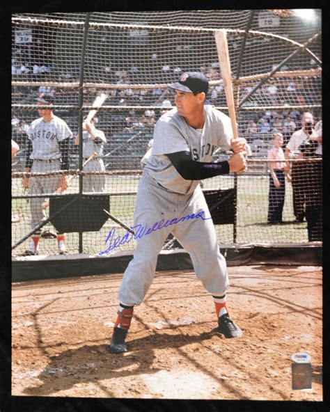 ted williams swing lot detail lot of 10 ted williams signed 16x20 photos