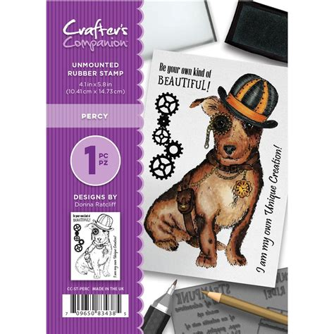 postmark rubber st crafter s companion percy unmounted rubber st set cc