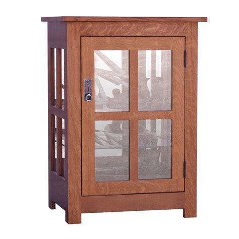 One Door Cabinet by Curio Cabinet One Door Amish Crafted Furniture