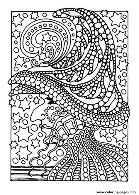 printable coloring pages halloween for adults adult halloween witch and stars coloring pages printable