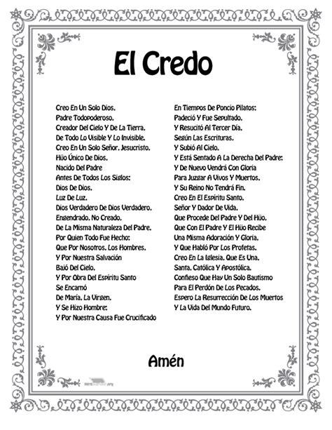 imagenes oraciones catolicas en ingles el credo para imprimir