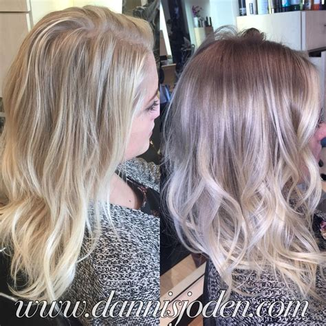 ombre balayage color melt blonde highlights long bob converted my full highlight client to balayage ombre color