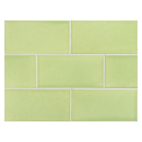 Vermeere ceramic tile victorian green gloss 3 quot x 6 quot subway tile