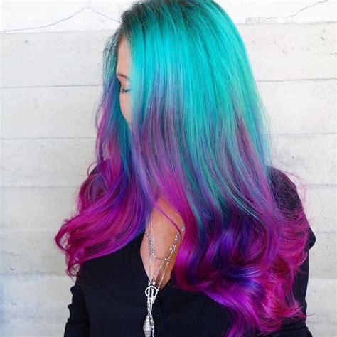 mermaid color hair quot mermaid hair quot trend has dyeing hair into sea