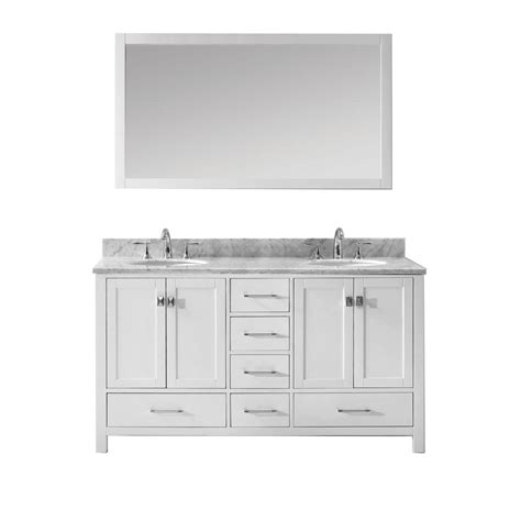 home depot usa bathroom vanities virtu usa caroline avenue 60 in w x 36 in h vanity with