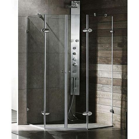 Neo Angle Glass Shower Doors Neo Angle Glass Shower Enclosures Glasone Glass Aluminum Shower Enclosure